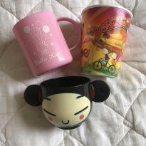 3 copos (hello kitty, pucca,pretzels) -  - Pucca e Sanrio