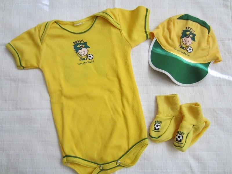 Kit Uniforme do Brasil 0 a 3 meses no Ficou Pequeno - Desapegos de ... c43a56c2cac91