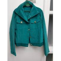Jaqueta verde em veludo com bordados - 12 anos - Tyrol