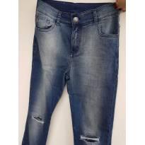 Calça jeans com joelhos rasgados - 12 anos - Tyrol