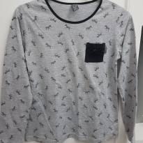 Camiseta Manga Longa com Zebras - 14 anos - Zara