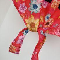 Blusa sem manga, florida - 14 anos - Marca não registrada