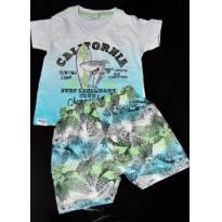 Conjunto de Camiseta e shorts P - 3 a 6 meses - Fakini