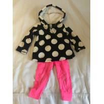 Conjunto com casaco fleece e calça leg carters - 9 meses - Carter`s