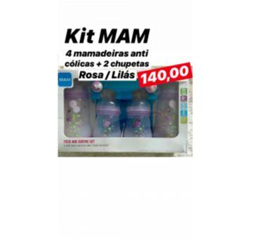 Kit com 4 mamadeiras MAM anticíclica + 2 chupetas filas nunca usada - Sem faixa etaria - MAM