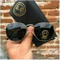 óculos de sol ban (rb3548) ray ban lentes preto hexagonal -  - Ray Ban