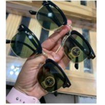 óculos de sol clubmaster  lentes verdes proteção uv400 rb3016 -  - Ray Ban