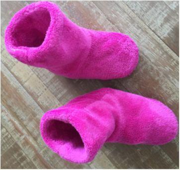 Bota Pantufa Infantil Pink em Pelúcia - 27 - Sem marca