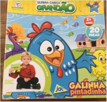 Quebra-Cabeça Grandão Galinha Pintadinha - 20 peças - Sem faixa etaria - Jak
