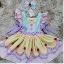 Vestido Palhacinha - Festa Circo - Tam. 2 -  - Não informada