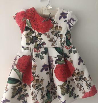 Vestido florido - 1 ano - Um mais um