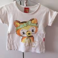 Blusa Kyly com aplique de raposa - 2 anos - Kyly