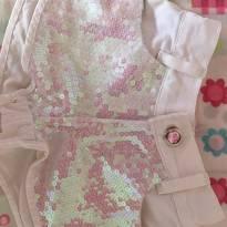Short branco com brilho Anuska - 2 anos - Anuska