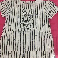 Vestido Lilica Branco e Azul - 24 a 36 meses - Lilica Ripilica