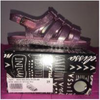 Mini melissa sandália Flox rosa - 25 - Melissa