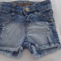 bermuda jeans - 9 a 12 meses - Não informada