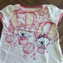 Blusa Lilica branca e rosa - 2 anos - Lilica Ripilica