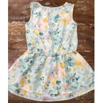 Vestido Milon de Amarrar Branco/Verde - 3 anos - Milon