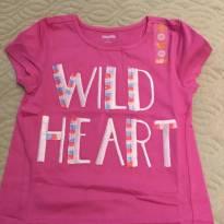 Camiseta Wild Heart - 5 anos - Gymboree