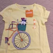 Camiseta Cat Bike Tee - 5 anos - Gymboree