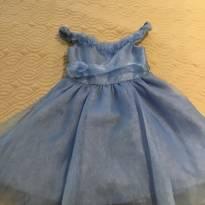 Vestido de festa azul - 4 anos - Não informada