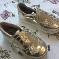 Tênis dourado - 25 - Liberte kids