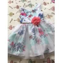 Vestido  floral com babado