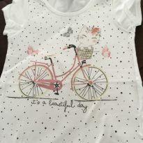 Camiseta bicicleya - 4 anos - Poim, Cherokee e Up Baby