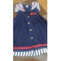 Vestido Marinheiro - 6 anos - Não informada