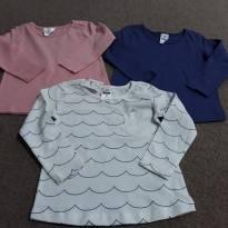 3 camisetas ml - 12 a 18 meses - Importada