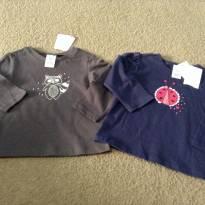 2 camisetas ml - 9 a 12 meses - Importada