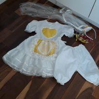 vestido noiva festa junina - 6 anos - desapegos gugudada