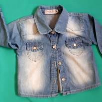 Camisa jeans - Clube do DINO - 9 a 12 meses - 9 a 12 meses - Clube do Dino
