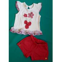 Conjunto short e regata - 6 a 9 meses - Have Fun
