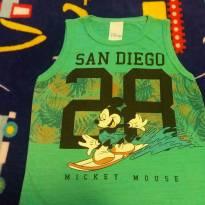 Regata Verde Mickey - 3 anos - Cativa