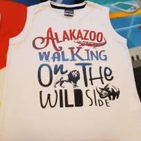 Camiseta regata branca - 4 anos - Alakazoo!