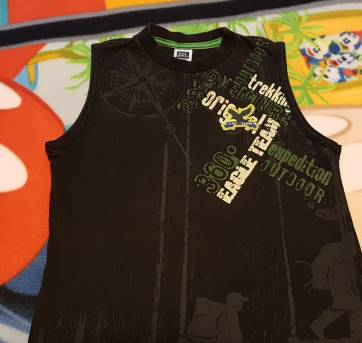 Camiseta regata preta - 4 anos - Farrapinhos