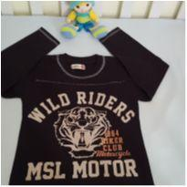 Camiseta manga longa preta - 4 anos - Marisol