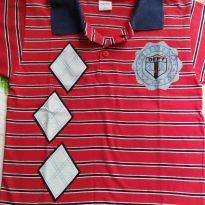 Camiseta gola polo - 4 anos - Fuzarka