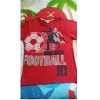 Camiseta vermelha futebol - 4 anos - Palomino