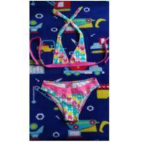 Bikini  estampado rosa - 10 anos - Puket