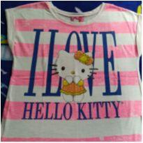 Blusinha Hello Kitty Rosa - 10 anos - Hello  Kitty