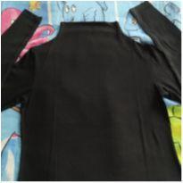 Blusinha preta manga longa - 10 anos - Malwee