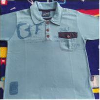 Camiseta gola polo azul - 4 anos - Alakazoo!