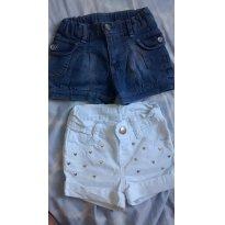 Shorts Jeans - Tam 9 á 12  e 1 ano - 9 a 12 meses - Tip Top e C&A
