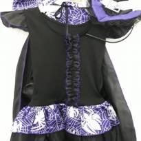 Fantasia Halloween Bruxinha Roxa - 2 anos - Não informada