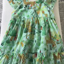 Vestidinho estampa selva - 24 a 36 meses - Maria Arteira
