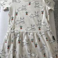 Vestido estampa coelhinhos - 2 anos - BB Básico