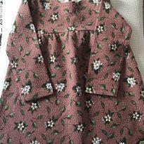 Vestido floral Zara manga longa - 12 a 18 meses - Zara Baby