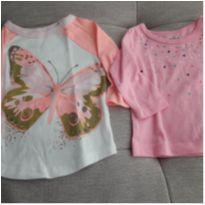 Kit 2 camisetas Carter`s - 3 a 6 meses - Carter`s